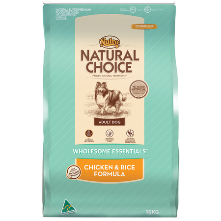 Nutro- Natural Choice Adult Chicken, Rice and Oatmeal Dry Dog Food  15kg