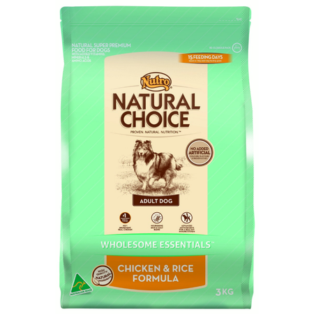 Nutro- Natural Choice Adult Chicken, Rice and Oatmeal Dry Dog Food  3kg