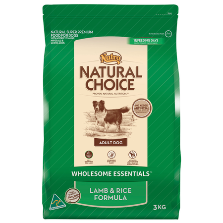 Nutro Natural Choice Adult Lamb, Rice and Oatmeal Dry Dog Food  3kg