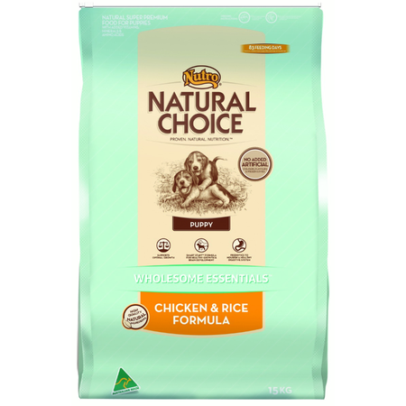 Nutro Natural Choice Puppy Chicken and Rice Dry Puppy Food 15kg