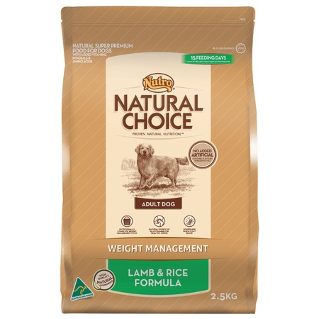 Nutro Natural Choice Adult Lite, Weight Management Lamb and Rice Dry Dog Food  2.5kg