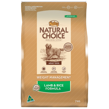 Nutro Natural Choice Adult Lite, Weight Management Lamb and Rice Dry Dog Food  7kg