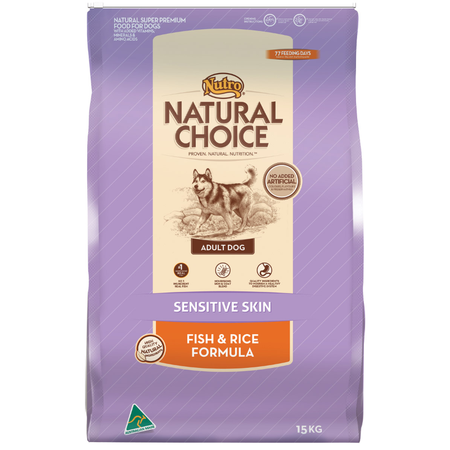 Nutro Natural Choice Adult Sensitive Skin Fish and Rice Dry Dog Food  15kg