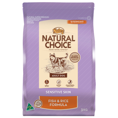 Nutro Natural Choice Adult Sensitive Skin Fish and Rice Dry Dog Food  3kg
