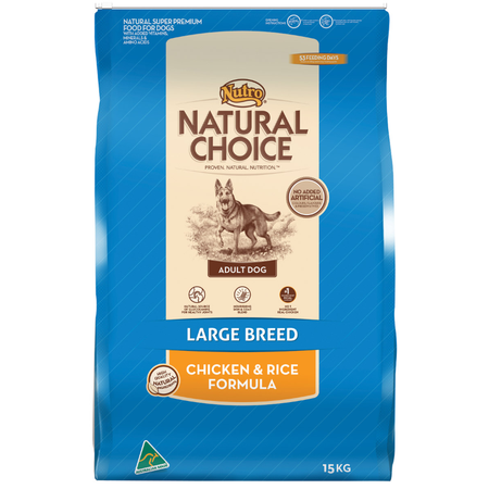 Nutro Natural Choice Adult  Large Breed Chicken and Rice Dry Dog Food  15kg