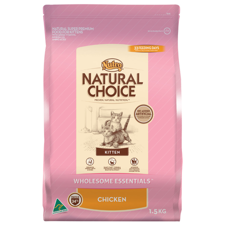 Nutro Natural Choice Chicken Dry Kitten Food  1.5kg