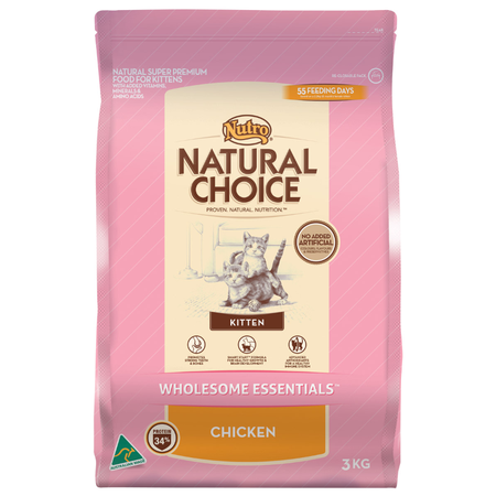 Nutro Natural Choice Chicken Dry Kitten Food  3kg