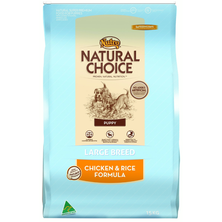 Nutro Natural Choice Puppy Large Breed Chicken and Rice Dry Puppy Food  15kg