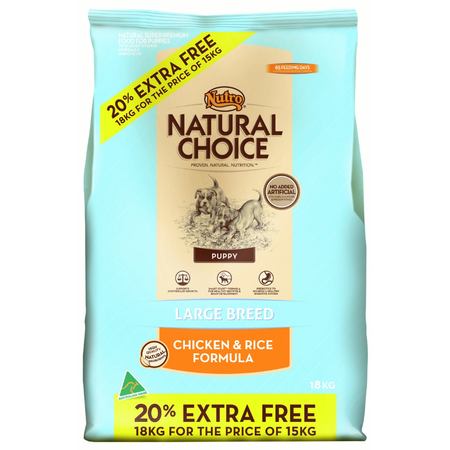 Nutro Natural Choice Puppy Large Breed Chicken and Rice Dry Puppy Food  18kg