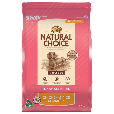 Nutro Natural Choice Small & Toy Breed Chicken & Rice - 3kg