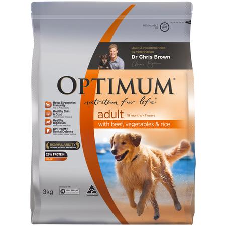 Optimum Adult Dog Beef, Vegetable & Rice - 3kg