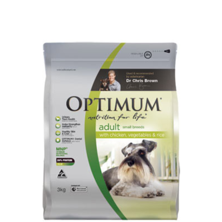Optimum Adult Small Breed Chicken, Vegetables and Rice Dry Dog Food  3kg