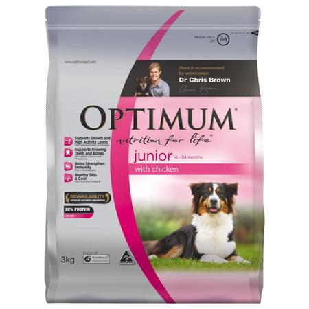 Optimum Junior Dry Dog Food with Chicken - 3kg