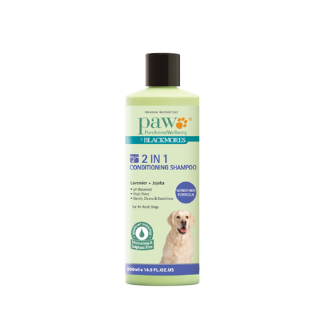 PAW 2 in 1 Conditioning Dog Shampoo  500ml