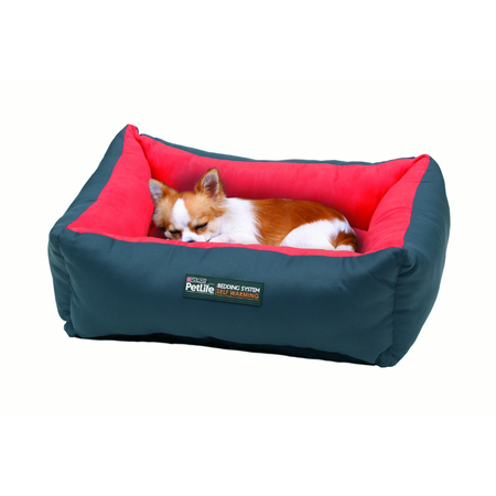 PetLife Self Warm Cuddle Bed Red/Charcoal