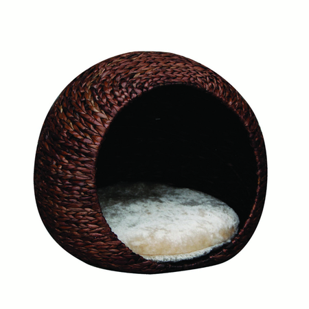 PetPals Cosmo Banana leaf condo pod with plush fleece pillow