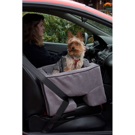 """Pet Gear Car Booster Seat Charcoal 22"""""""""""