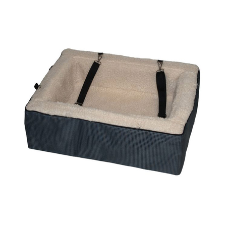 """Pet Gear Car Booster Seat with Wool Insert Slate 22"""""""