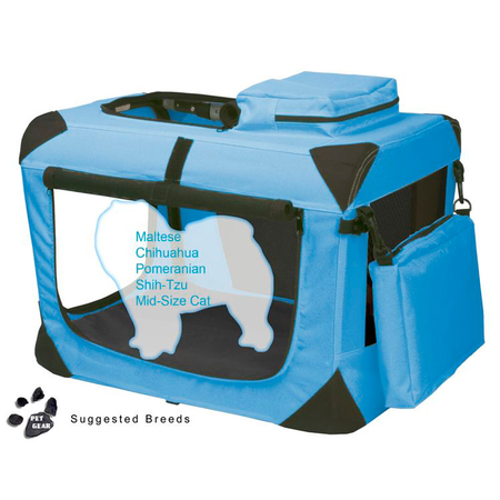 Pet Gear Generation II Soft Collapsible Dog Crate Turquoise 21In (52.5Lx36Wx36Hcm)