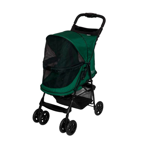 Pet Gear Happy Trails Dog Pram Green 61Lx30Wx52.5Hcm (Interior Dimensions)