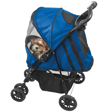 Pet Gear Happy Trails Stroller - Cobalt Blue