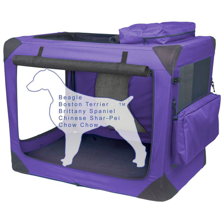 """Pet Gear Soft Crate Generation II Lavender - 30"""""""
