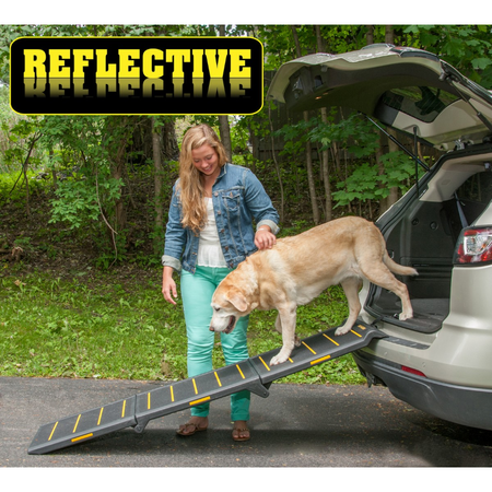 Pet Gear Tri Fold Reflective Pet Ramp - Extra Wide