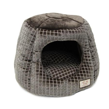 Pet Igloo Plush Grey