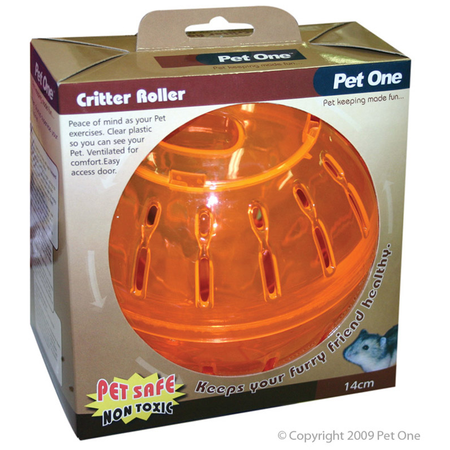 Pet One Critter Roller Small Animal Exercise Toy 14cm