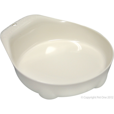 Pet One Securable Feeding Bowl for Small Animals White 70ml