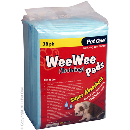 Pet One Wee Wee Training Pads - 30pk