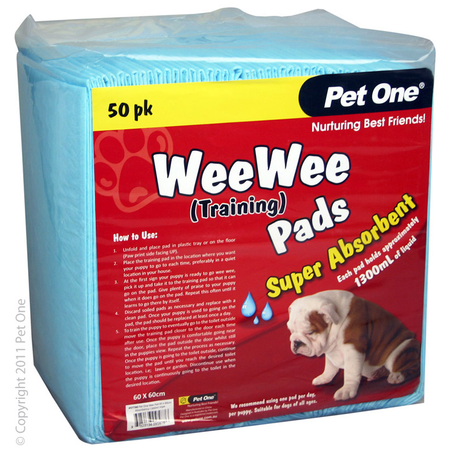Pet One Wee Wee Training Pads - 50pk