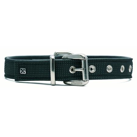 Petlife Action Leather Lined Dog Collar Black Large (52.5cm)