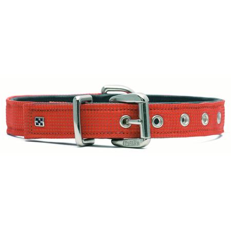 Petlife Action Leather Lined Dog Collar Orange Large (52.5cm)