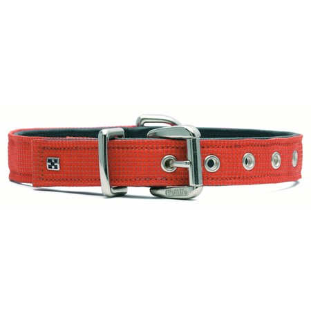 Petlife Action Leather Lined Dog Collar Orange X Small (30cm)
