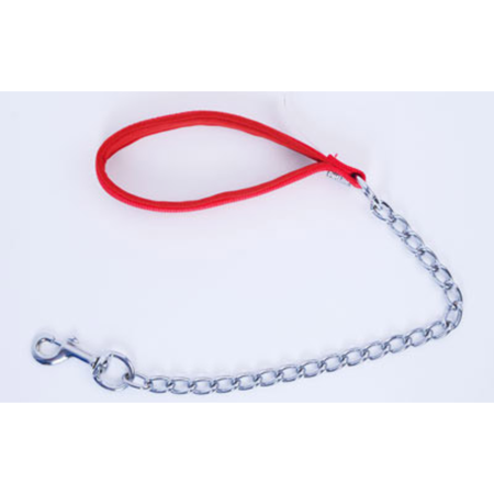 Petlife Chain Dog Lead with Padded Handle Red 120cm