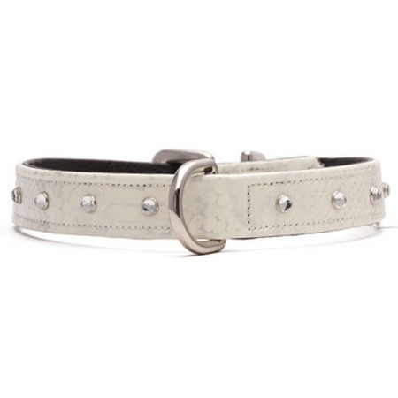 Petlife Jewels Collar - Sassy White Lge 52.5cm