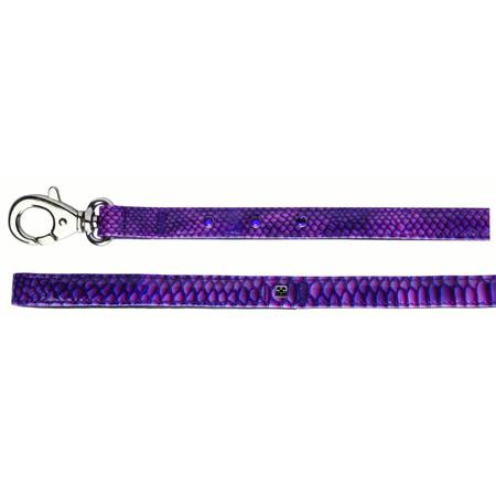 Petlife Jewels Leather Lined Dog Lead Purple 120cm