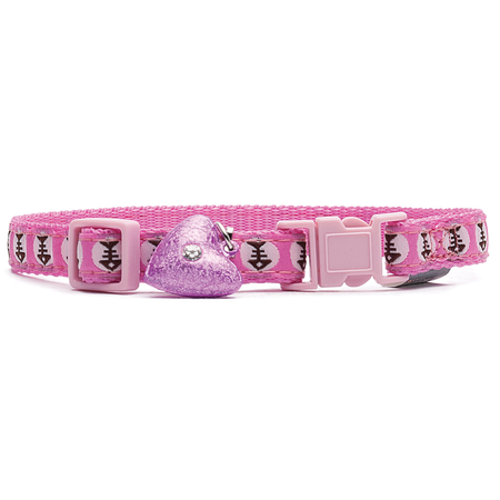 Petlife Lifestyle Fashion Cat Collar - Fish Bowl Pink