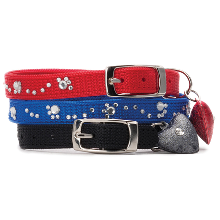 Petlife Lifestyle Fashion Cat Collar - Glitter Paws