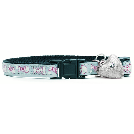 Petlife Lifestyle Fashion Cat Collar - Silver Alley Cat