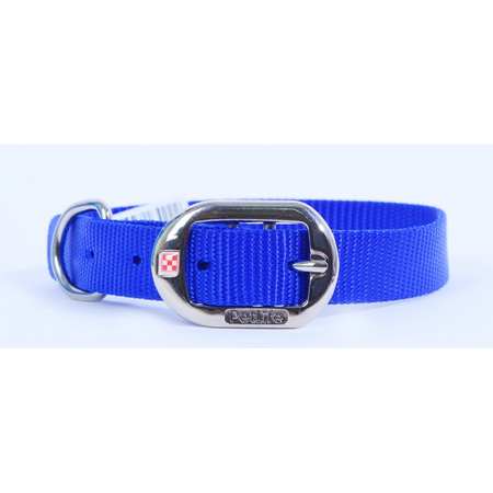 Petlife Nylon Dog Collar with Buckle Blue X Large (60cm)