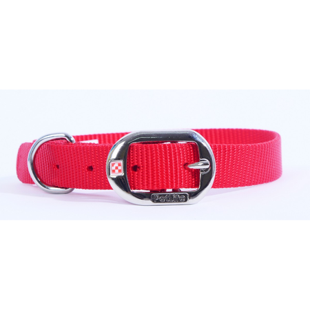 Petlife Nylon Dog Collar with Buckle Red Large (52cm)