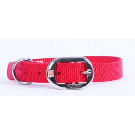Petlife Nylon Dog Collar with Buckle Red X Small (130cm)