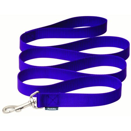 Petlife Nylon Dog Lead Purple 120cm