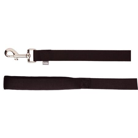 Petlife Nylon Dog Lead with Padded Handle Black 120cm
