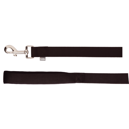 Petlife Nylon Dog Lead with Padded Handle Black 180cm