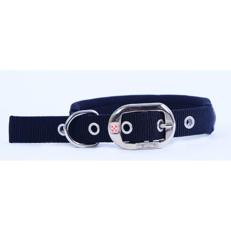 Petlife Padded Dog Collar  Black Large (52.5cm)