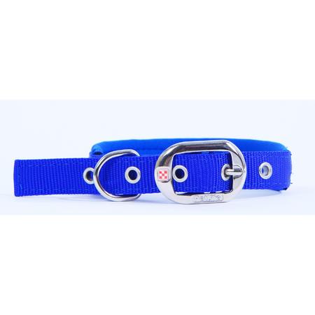 Petlife Padded Dog Collar  Blue Large (52.5cm)