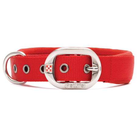 Petlife Padded Dog Collar  Red Small (37.5cm)